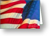 Flag Of The United States Greeting Cards - Old Glory Greeting Card by David Lee Thompson