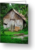 St. Lucia Photographs Greeting Cards - Old House Greeting Card by Bill Mortley