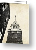 Famous Landmark Greeting Cards - Old North Church in Boston Greeting Card by Elena Elisseeva