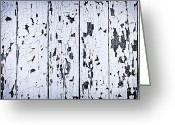 Panel Greeting Cards - Old painted wood abstract Greeting Card by Elena Elisseeva