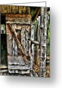 Tenn Greeting Cards - Old Wood Door 1 Greeting Card by Dennis Sullivan