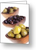 Greek Photo Greeting Cards - Olive bowls Greeting Card by Jane Rix