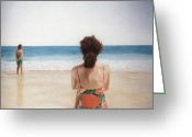 Photorealism Greeting Cards - On The Beach Greeting Card by Rich Milo