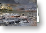 Mammoth. Greeting Cards - Opal Terrace - Yellowstone Greeting Card by Stephen  Vecchiotti