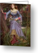 Femme Painting Greeting Cards - Ophelia Greeting Card by John William Waterhouse