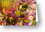 Summers Greeting Cards - Orchid Greeting Card by Anne Weirich