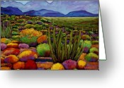 Autumn Painting Greeting Cards - Organ Pipe Greeting Card by Johnathan Harris