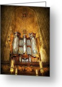 Pray Digital Art Greeting Cards - Organ Greeting Card by Svetlana Sewell