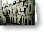 Thriller Greeting Cards - Ostuni - Apulia Greeting Card by Joana Kruse
