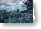 Dark Grey Greeting Cards - Over in the Meadow 3 Greeting Card by Shirley Sirois