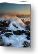 Atlantic Ocean Greeting Cards - Over the Rocks Greeting Card by Mike  Dawson