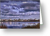 Santa Rosa Beach Greeting Cards - Oyster Lake Greeting Card by Walt Foegelle
