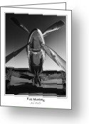 P-51 Mustang Greeting Cards - P-51 Mustang - Bordered Greeting Card by John  Hamlon