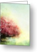 Beautiful Flowering Trees Greeting Cards - Painted Spring Greeting Card by Stephanie Frey