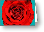 Texture Floral Greeting Cards - Painting Of Single Rose Greeting Card by Setsiri Silapasuwanchai