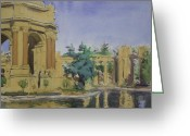 Impressionist Greeting Cards - Palace of Fine Arts Greeting Card by Walter Lynn Mosley