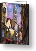 Landscape Greeting Cards - Paris Montmartre  Greeting Card by Yuriy  Shevchuk