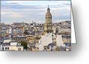 Rooftops Greeting Cards - Paris rooftops Greeting Card by Elena Elisseeva