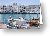 Old City Greeting Cards - Paros - Cyclades - Greece Greeting Card by Joana Kruse