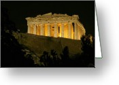 Europe Painting Greeting Cards - Parthenon Greeting Card by Ellen Henneke