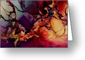 Fluid Greeting Cards - Passion Greeting Card by Michael Lang