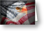 "\""old Glory\\\"" Greeting Cards - Patriot Greeting Card by Ron Day"