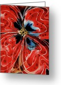 Earth Tone Greeting Cards - Pavot Rouge Greeting Card by Sharon Cummings