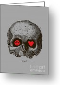 Old Digital Art Greeting Cards - Peace and Love Greeting Card by Budi Satria Kwan