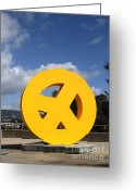 Architecture Greeting Cards - Peace From The Oakland Museum . Oakland California . 7D13411 Greeting Card by Wingsdomain Art and Photography