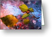 Jewel Tones Digital Art Greeting Cards - Pear Branch Greeting Card by Beth Akerman
