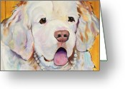 Abstract Realism Painting Greeting Cards - Pearl Greeting Card by Pat Saunders-White            