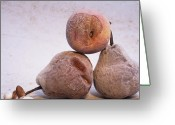 Close-ups Greeting Cards - Pears Greeting Card by Bernard Jaubert