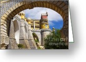 Portugal Art Greeting Cards - Pena Palace Greeting Card by Carlos Caetano