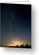 Meteor Photo Greeting Cards - Perseids Meteor Shower Greeting Card by Zoltan Kenwell