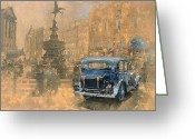 Central Painting Greeting Cards - Phantom in Piccadilly  Greeting Card by Peter Miller