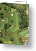 The Philadelphia Cricket Club Wissahickon Militia Hill And St Martins Golf Courses Greeting Cards - Philadelphia Cricket Club Wissahickon Golf Course 12th Hole Greeting Card by Duncan Pearson