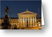 Philadelphia Museum Of Art Greeting Cards - Philadelphia Museum of Art Greeting Card by John Greim