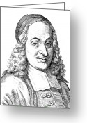 Skullcap Greeting Cards - Philipp Spener (1635-1705) Greeting Card by Granger