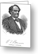 Autograph Greeting Cards - Phineas Taylor Barnum Greeting Card by Granger