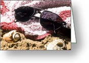 Beach Towel Greeting Cards - Photochromatic Sunglasses Greeting Card by Martyn F. Chillmaid