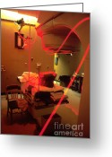 Laser Beam Greeting Cards - Photodynamic Therapy Greeting Card by Science Source