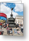 Eros Statue Greeting Cards - Picadilly circus Greeting Card by Andrew  Michael