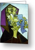 Cubist Greeting Cards - Picasso: Guernica Greeting Card by Granger