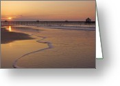 Bonnes Eyes Fine Art Photography Greeting Cards - Pier Sunrise Greeting Card by Bonnes Eyes Fine Art Photography