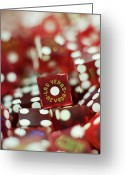 Games Photo Greeting Cards - Pile Of Dice At A Casino, Las Vegas, Nevada Greeting Card by Christian Thomas