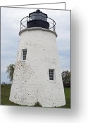 Potomac River Greeting Cards - Piney Point Lighthouse - Maryland Greeting Card by Brendan Reals
