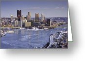 Mellon Arena Greeting Cards - Pittsburgh 5 Greeting Card by Emmanuel Panagiotakis