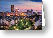 Pittsburgh Skyline Greeting Cards - Pittsburgh 7 Greeting Card by Emmanuel Panagiotakis