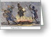 Martyr Photo Greeting Cards - Polycarp Of Smyrna Greeting Card by Granger
