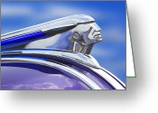 Hot Rod Greeting Cards - Pontiac Hood Ornament  Greeting Card by Mike McGlothlen